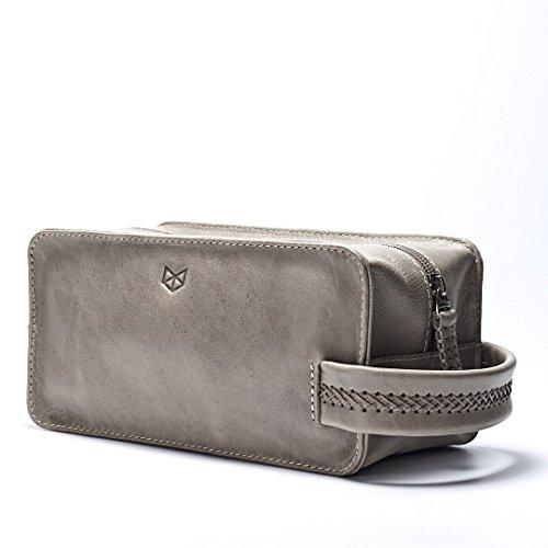 Grey-Leather-Waterproof-Toiletry-Personalized-Mens-Dopp-kit-Travel-Bag-Gift-for-Men-Groomsmen-Gift-Shaving-Bag-by-Capra