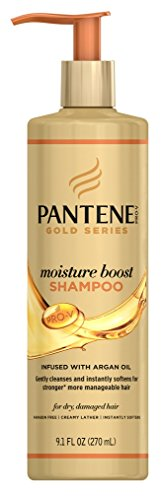 Pantene Gold Series Shampoo Moisture Boost 9.1 Ounce (270ml) (2 Pack)