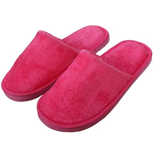 Peluche Sol Maison Rouge Sandales Furry Chaussures Rose antidérapant Neuf Intérieur 3739 en Chaussons Mignon Junlinto Douce Home Green xpITz5c
