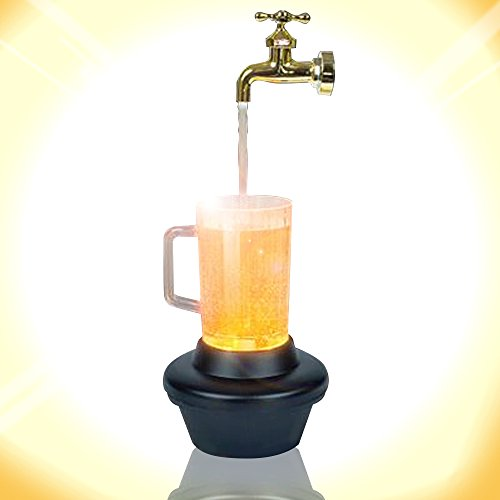 ArtCreativity 11 Inch Magic Beer Fountain Faucet - All Necessary Cords Included - with On Off Feature - Unique Parlor Trick and Decoration - Best Gift for Daddy