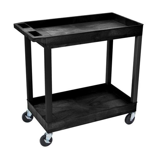 Luxor EC11HD-B High Capacity Two Shelf Tub Cart, 5