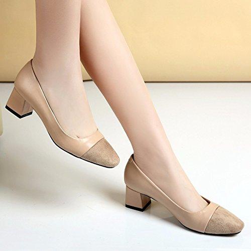 scarpe inverno e Confortevole in tacchi B e e ladies FLYRCX autunno alti retrò pSqxI