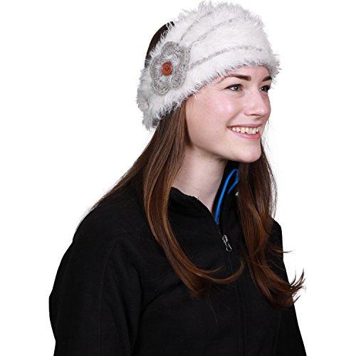 FU-R Headwear Turtle Fur Women's Flora Headband, White, One Size