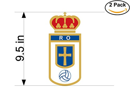 fan products of Real Oviedo Spain Soccer Football Club FC 2 Stickers Car Bumper Window Sticker Decal Huge 9.5 inches