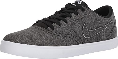 Nike SB Check Solarsoft Canvas Premium Men's Skate Shoes (11) Black/Black-White (Nike Free Shoes Sb)