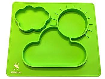 SiliDishes Silicone Sunshine Placemat Tray (Green)