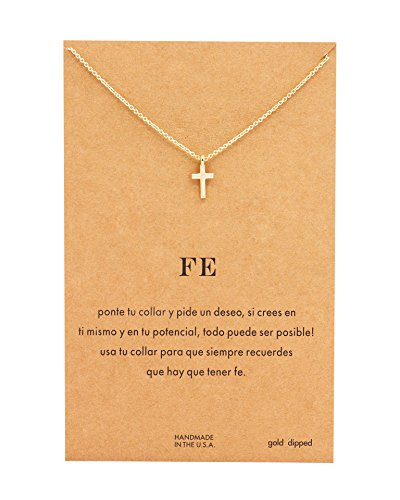 Geerier Make A Wish Reminder Message Card Necklace Pendant Wish Necklace Best Gift