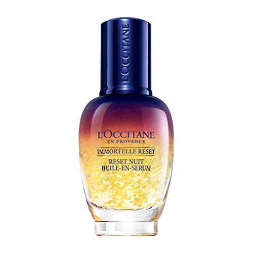 L'Occitane Immortelle Overnight Reset Oil-in-Serum for a More Youthful and Rested Complexion, 1 fl. oz.