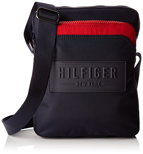 City Slim Bag Hilfiger Mens Nylon Messenger Corporate Red Reporter Tommy qIEHww