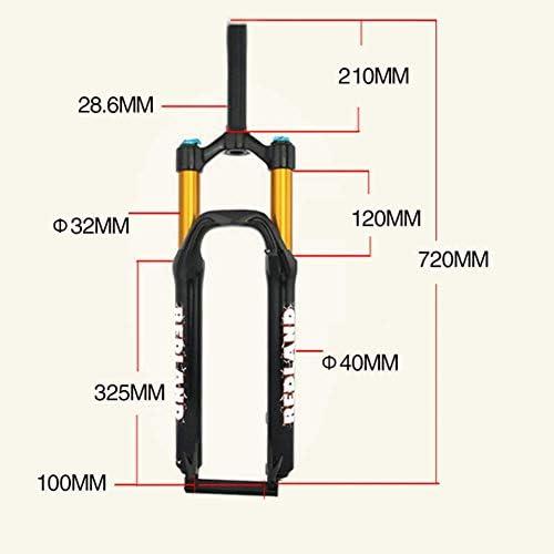 SN 山の自転車の空気圧のフォーク、アルミ合金8の区分の調節可能な空気懸濁液の肩制御 (Color : Black, Size : 26inch)