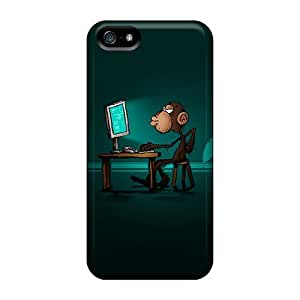 Iphone 5/5s-(addicted Monkey) Plastic mobile phone New Arrival case yueya's case