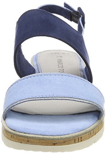 Marco Tozzi Women's 28618 Sling Back Sandals Blue (Lt. Blue Comb 876) tN3C2vtbu