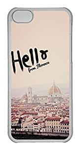 diy phone caseBrian114 iphone 5/5s Case, iphone 5/5s Cases - Shock-Absorption with Customized Design Cases for iphone 5/5s Hello From Florence Protective Hard Clear Back Cover for iphone 5/5sdiy phone case
