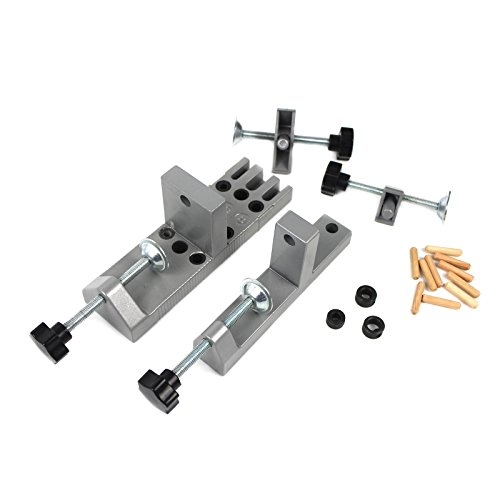 Universal DIY Wood Doweling Jig Kit Pro Wood Drills Home Dowel Set Wolfcraft NEW
