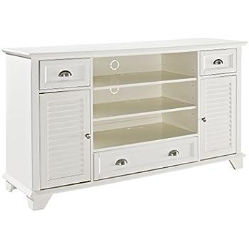 Crosley Furniture Palmetto 60 Inch Full TV Stand   White