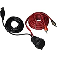 Waterproof dash mounted USB and 3.5mm input with RCA and USB extension cable