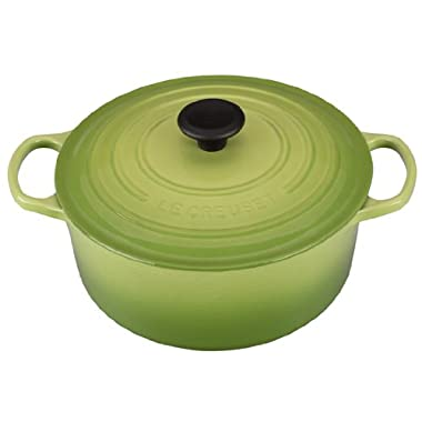 Le Creuset Signature Enameled Cast-Iron 5-1/2-Quart Round French (Dutch) Oven, Palm