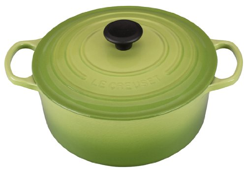 - Le Creuset Signature Enameled Cast-Iron 5-1/2-Quart Round French (Dutch) Oven, Palm