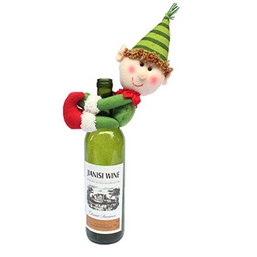 Household Decoration (Misaky Christmas Household Decoration Christmas Snowman Wine bottle)