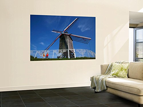 Two Small Girls Looking Up at Sint-Janshuis Windmill Wall Mural by Ruth Eastham & Max Paoli 48 x 72in (Wall 1 2 Decor Windmill)