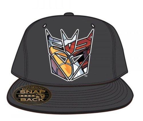 Transformers Decepticons Gray Snapback Baseball Cap