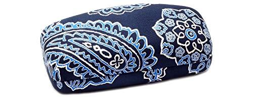 Vera Bradley Authentic Blue Bandana Clam Shell Sunglass Case