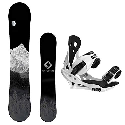 System 2021 MTN Snowboard with Summit Bindings Men's Snowboard Package…
