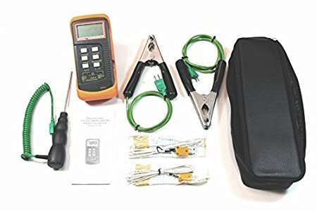 HVAC Thermometer Kit Two Clamp Probes, Liquid Probe, Two Wire Air ...