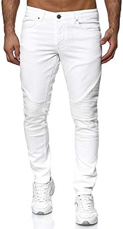 Tazzio męskie dżinsy Denim Biker-Jeans Slim Fit M517-2: Odzież