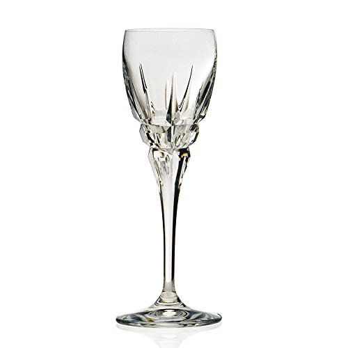 Lorenzo Carrara Collection Red White Goblet from the DaVinci Line (4 Pack), Clear by Lorenzo