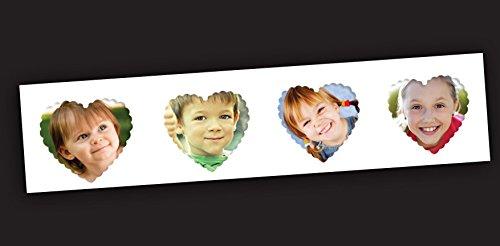 Heart shape Magnetic Photo Picture Frames Set - Place for 4 Photos! (Shape Magnetic Picture Frame)