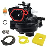LIYYOO 593261 Carburetor Replacement for Briggs and Stratton 300E 450E 08P502 8P502 4-Cycle Carb Vertical Engines Kit Include Air Filter+Fuel Filter+tubing