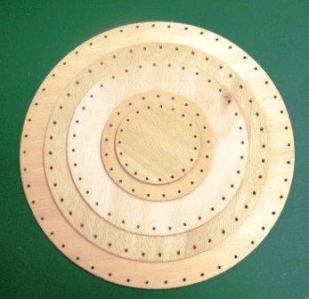 Peddigrohr Boden aus Holz 16 cm