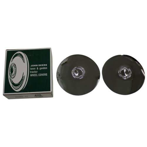 John Deere M42184 12 Inch Rim Chrome Wheel Covers Moons Hub Caps (Set of 2)