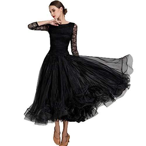 【半額】 女性のための全国標準の社交ダンスドレスダンスダンスウェアレースの袖現代ワルツタンゴダンスパフォーマンス衣装グレートスイング B07QFW24CS B07QFW24CS S S s|ブラック ブラック ブラック S s, あいあいショップさくら:76936081 --- a0267596.xsph.ru