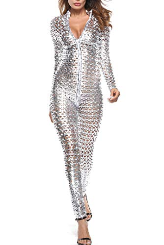 LHS Charmer Women's Sexy Hollow Catsuit One Piece