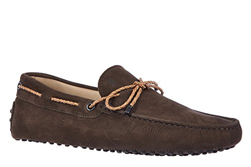 Tods Menns Semsket Loafers Mokasiner Laccetto Mine Farger Gommini Brun