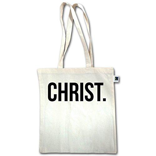 Bio Glaube Statement Henkel lange Christ Baumwolltasche Jesus XT600 Unisize Religion schwarz Natural Christus Fairtrade 6vvqBFw