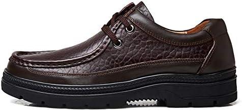 カジュアルビジネスローファー用男性風格のある靴レースアップラウンドトゥ本革通気性可憐な手縫い滑り止め 快適な男性のために設計