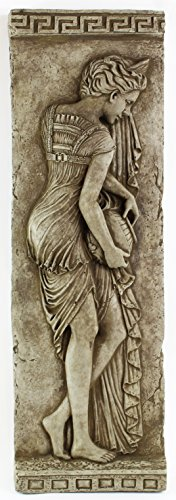 Water Maiden Home and Garden Wall Plaques Cement Sculpture Wall Decor