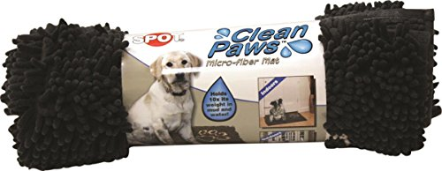 Paw Clean Mat (Ethical Pets Ethical Pet Clean Paws Microfiber Dog Mat 31 x 20 Grey)