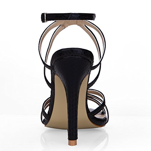 Dolphinbanana Mujeres Simple Casual Sandalias De Tacón Sandalias Prime Zapatos Black
