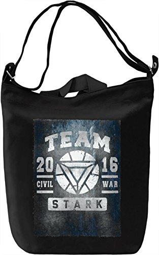 Team Stark Borsa Giornaliera Canvas Canvas Day Bag| 100% Premium Cotton Canvas| DTG Printing|