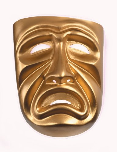 10473 (Tragedy) Tragedy Mask Frown Gold