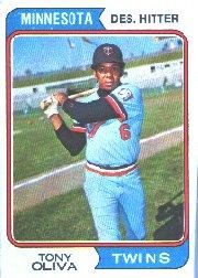 1974 Topps Baseball Card #190 Tony Oliva ()