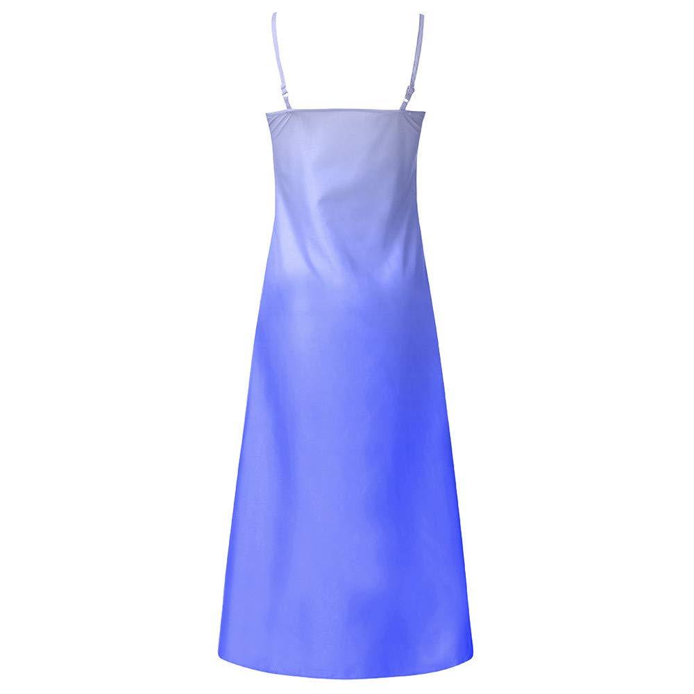Vestido de gradiente Estampado sin Mangas con Cuello en O ...