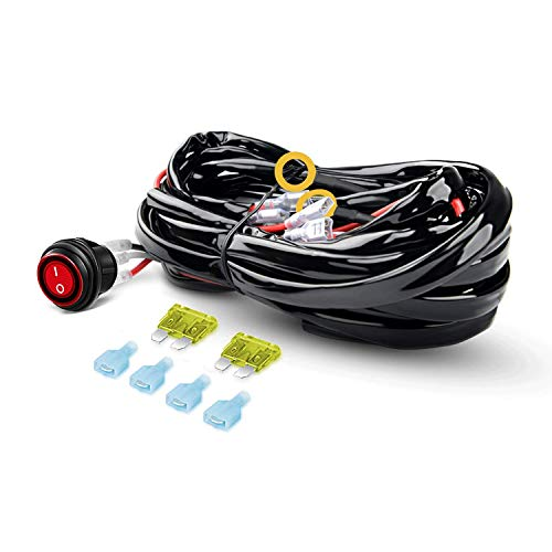 GOOACC Off Road LED Light Bar Wiring Harness Kit 12V On off Waterproof Switch for Vehicle ATV SUV UTV 4WD Jeep Boat,2 years Warranty