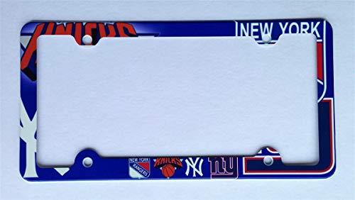 ATD New York Sport Teams License Plate Frame Decorative License Plate Holder (Decorative License Plate New York)