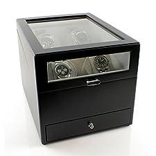 Heiden Grand Quad Watch Winder with Storage Drawer