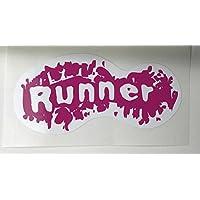 Wuz Worth it Pink Trail runner sticker